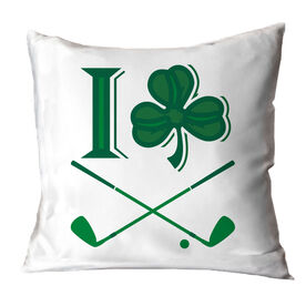 Golf Throw Pillow I Shamrock Golf