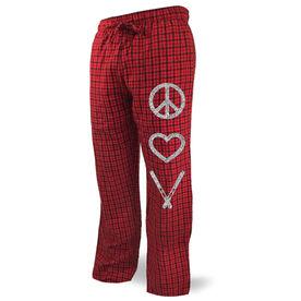 Skiing Lounge Pants Peace Love Ski