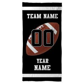 Football Beach Towel Personalized Team