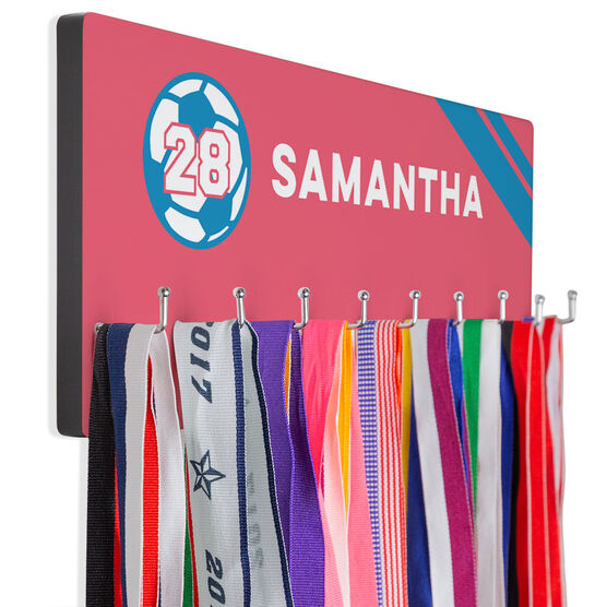 Soccer Hook Board Soccer Name with Stripes