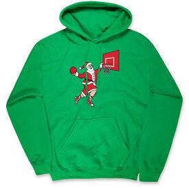Basketball Hooded Sweatshirt - Slam Dunk Santa