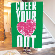 Cheerleading Premium Blanket - Cheer Your Heart Out