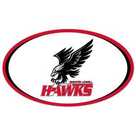 Car Magnet - Greater Lowell Hawks Hockey Logo