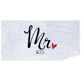 Personalized Premium Beach Towel - Mr.