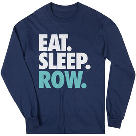 Crew T-Shirt Long Sleeve Eat. Sleep. Row.