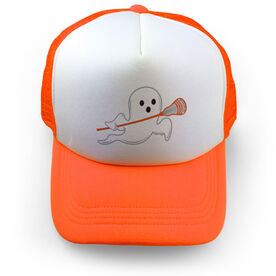Guys Lacrosse Trucker Hat Ghost