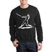 Baseball Crew Neck Sweatshirt - Baseball Player
