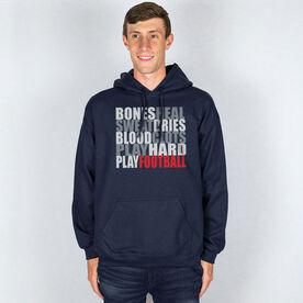 Football Hooded Sweatshirt - Bones Saying