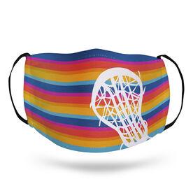 Girls Lacrosse Face Mask - Sunset Stripes