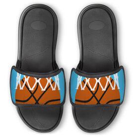 Basketball Repwell™ Slide Sandals - Ball in Net