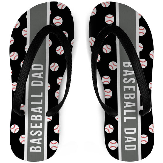 Baseball Flip Flops Dad Pattern