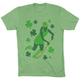 Field Hockey Vintage Lifestyle T-Shirt - Play For St. Patrick's Day
