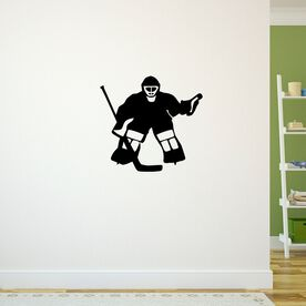 Hockey Goalie Removable ChalkTalkGraphix Wall Decal