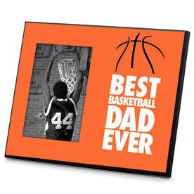 Basketball Wood Frame Best Dad Ever