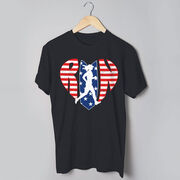 Running Short Sleeve T-Shirt - Patriotic Heart