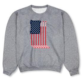 Hockey Crew Neck Sweatshirt - American Flag