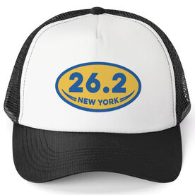 Running Trucker Hat 26.2 New York