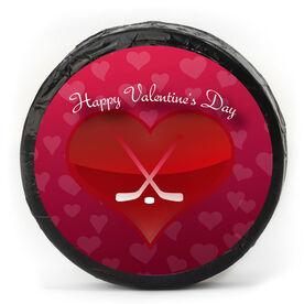 Valentine's Day Chocolate Hockey Puck