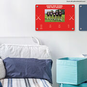 """Field Hockey 18"""" X 12"""" Aluminum Room Sign - Team Photo With Roster"""