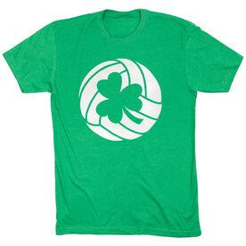 Volleyball Tshirt Short Sleeve Shamrock Volleyball