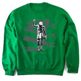 Football Crew Neck Sweatshirt Number One Player