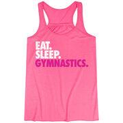 Gymnastics Flowy Racerback Tank Top - Eat Sleep Gymnastics