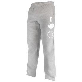 I Love Tennis (Symbols) Fleece Sweatpants
