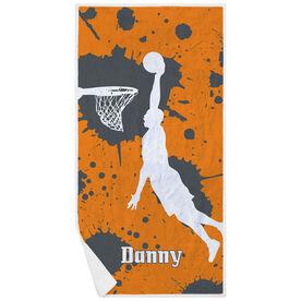 Basketball Premium Beach Towel - Slam Dunk