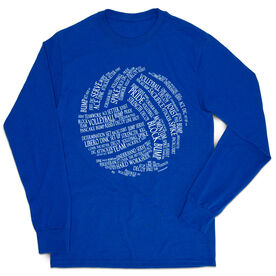 Volleyball Tshirt Long Sleeve - Volleyball Words
