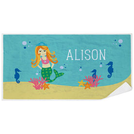 Personalized Premium Beach Towel - Mermaid