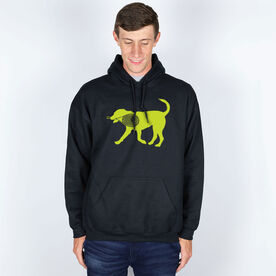 Tennis Hooded Sweatshirt - Tennis Dog