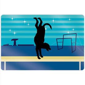 "Gymnastics 18"" X 12"" Aluminum Room Sign - Leo The Gymnastics Dog"