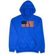Hockey Hooded Sweatshirt - Hockey Laces Flag