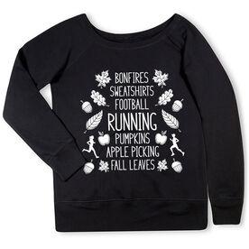Running Fleece Wide Neck Sweatshirt - Fall Running