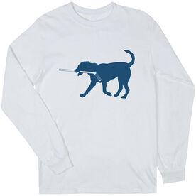 Hockey Tshirt Long Sleeve Rocky The Hockey Dog