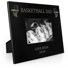 Basketball Engraved Picture Frame - Basketball Dad
