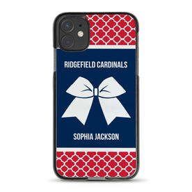 Cheerleading iPhone® Case - Personalized Cheer Squad with Bow