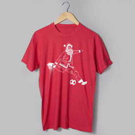 Soccer Short Sleeve T-Shirt - Santa Player