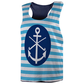 Field Hockey Racerback Pinnie - Anchor with Stripes