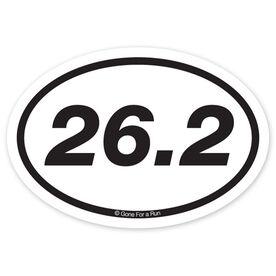 26.2 Marathon Decal (Black/White)