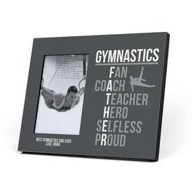 Gymnastics Photo Frame - Gymnastics Father Words (Guy Gymnast)