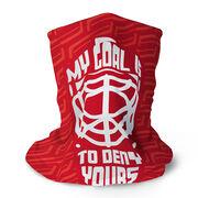 Hockey Multifunctional Headwear - My Goal Is To Deny Yours Goalie RokBAND