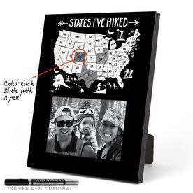 Photo Frame - States I've Hiked Outline