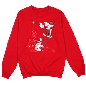 Guys Lacrosse Crew Neck Sweatshirt - Santa Laxer