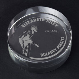 Field Hockey Personalized Engraved Crystal Gift - Customized Goalie