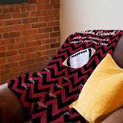 Football Premium Blanket - Personalized Thanks Coach Chevron