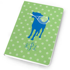 Tennis Notebook Monogrammed Dog
