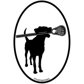 Lax Dog Oval Decal (Black/White)