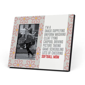 Softball Photo Frame - I'm A Softball Mom With Pattern