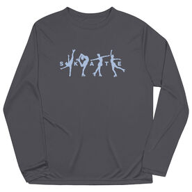 Figure Skating Long Sleeve Performance Tee - Skate With Silhouettes